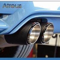 1X tubo de escape Universal Akrapovic de fibra de carbono para coches  accesorios de automóviles BMW Mini Cooper|car-styling|car-styling bmw|  -