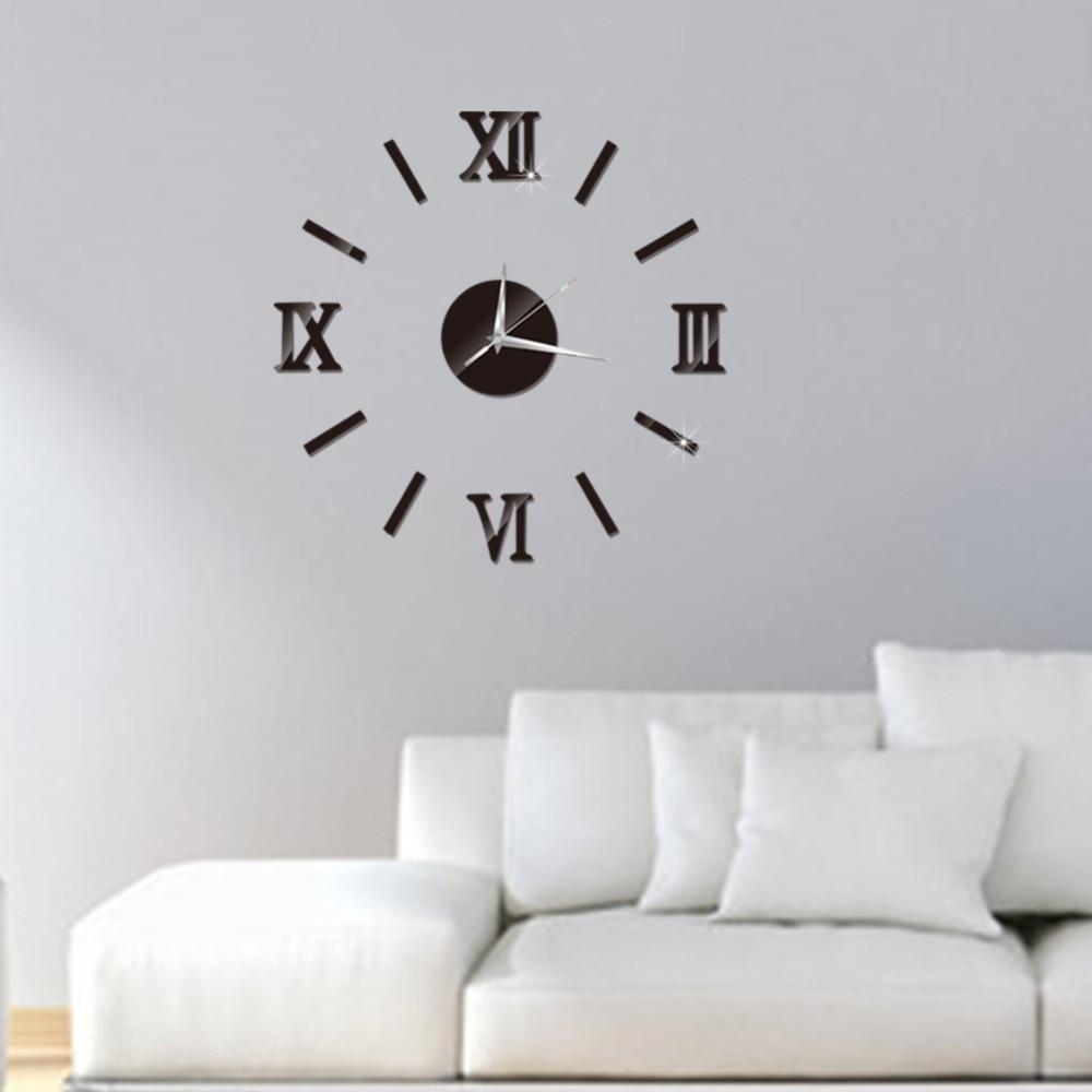 3D Wall Clock Mirror Wall Stickers Fashion Living Room Quartz Watch DIY Home Decoration Clocks Sticker reloj de pared 11