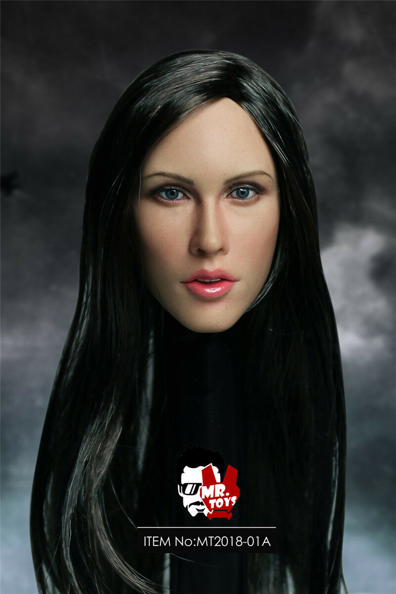 "1/6 Megan Fox Head Carving Black Hair Wheat-Skin A MR.TOYS MT2018-01 fit 12"" Female Action Figure"
