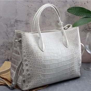 ourui true crocodile belly female package The Himalayan white women handbag