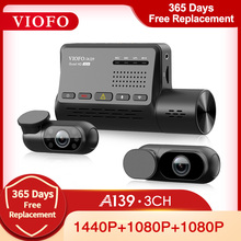 VIOFO A139 Автомобильный видеорегистратор, 3 канала, видеорегистратор с GPS, встроенный Wifi, Sony сенсор, камера заднего вида, ИК-камера, видеорегистр...