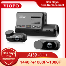 VIOFO A139 Car DVR 3 Channel Dash Cam with GPS Built in Wifi Sony Sensor Rear View Car