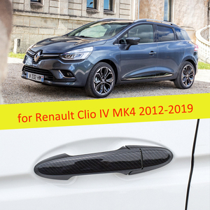 2 PCS Carbon Fiber Door Handle Cover Catch Trim Car Accessories for Renault Clio IV MK4 2012 2013 2014 2015 2016 2017 2018 2019
