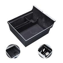 Voiture accoudoir Central boîte de rangement pour Tesla modèle 3 2021 accessoires Console centrale flocage organisateur conteneurs voiture intérieur