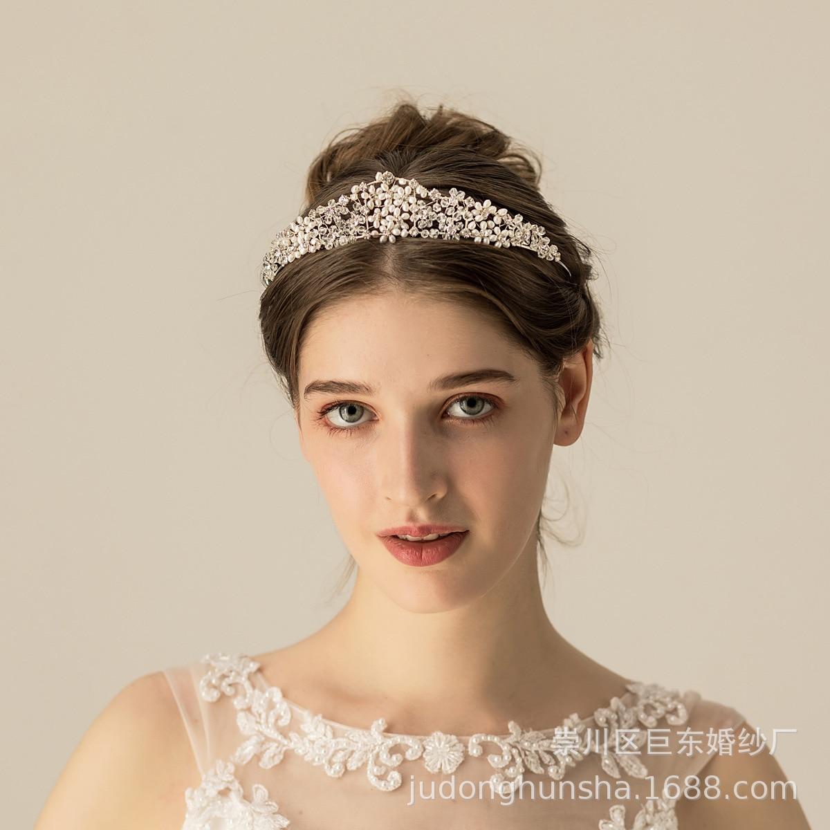 Leliin or mariée cheveux d'eau douce perle diadème couronne mariage cheveux casque cristal cheveux Barrette mariée épingles à cheveux bijoux de cheveux