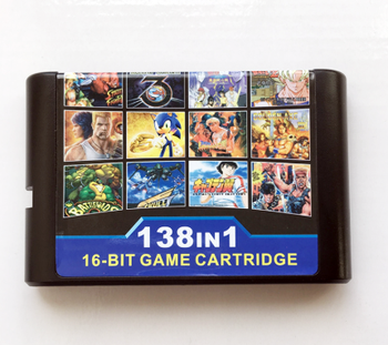 138 in 1 Hot Game Collection For SEGA GENESIS MegaDrive 16 bit Game Cartridge For PAL and NTSC Game consoles Version 10pcs for sega mega drive 112 in 1 game card cartridge 16 bit md game card for sega genesis freeshipping