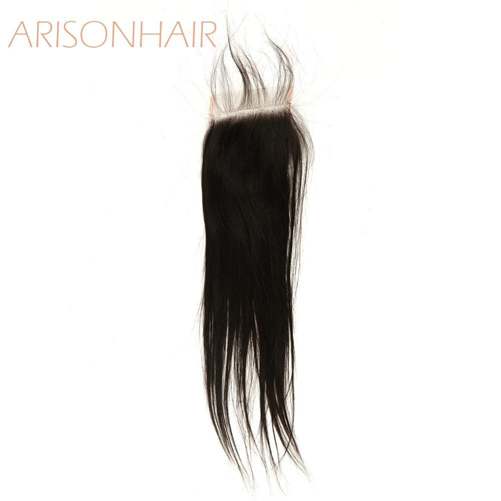 4x4 fechamento do laço em linha reta cabelo humano fechamento do laço suíço pré arrancado com o cabelo do bebê natural linha fina brasileiro remy cabelo