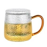 320 ml alta borosilicate copo de café de vidro caneca de chá de flor copos de vidro para bebidas quentes e frias copo de chá presente perfeito|Jogos de chá| |  -
