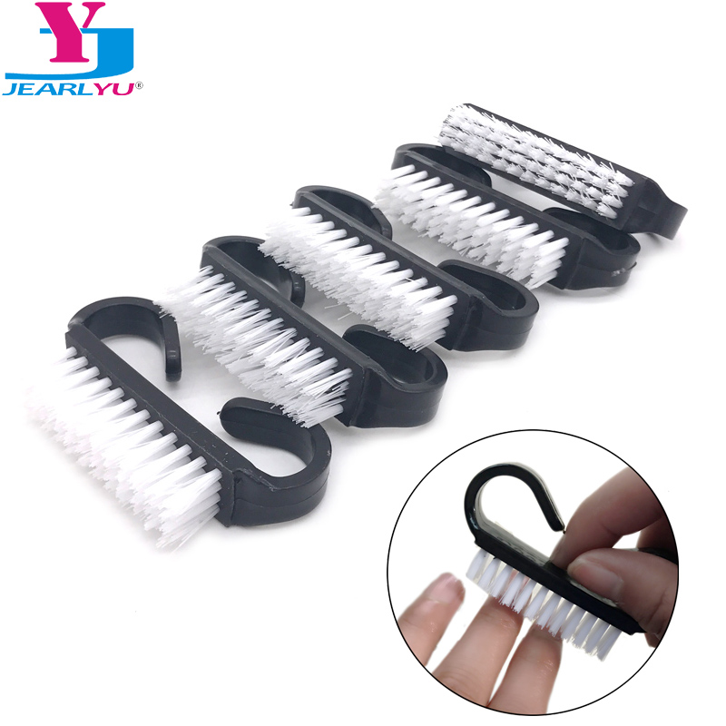 New 10 Pcs Black Nail Art Care Acrylic Nail Brush Cleaning Dust Remove Pedicure Tools Manicure Professional Nails Brush DIY Kit