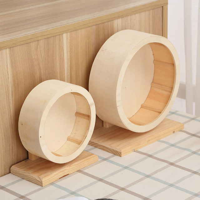 Pet Wooden Sports Wheel Mute Hamster Running Wheel Pet Toy Wheel For Hamsters, Mice, Mice And African Hedgehogs   WJ10313