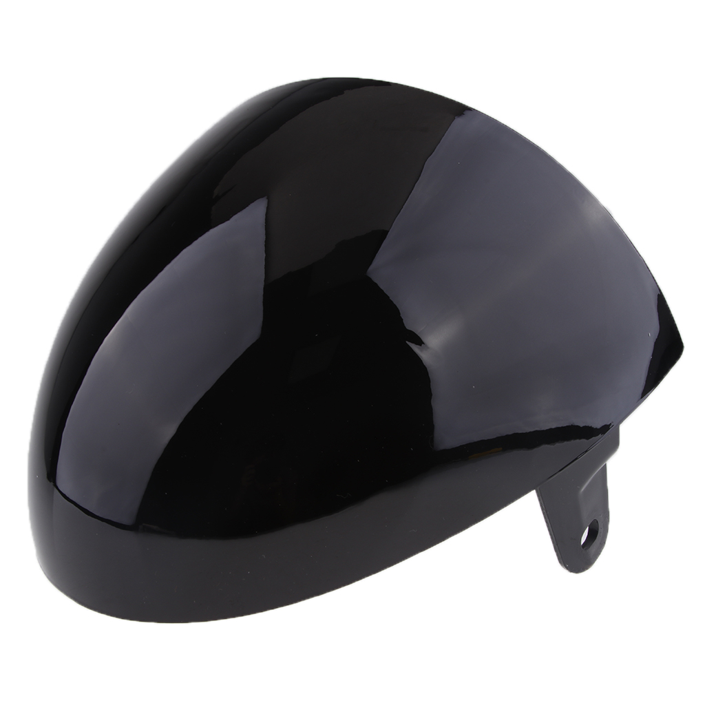Universal Motorcycle ABS Rear Seat Cowl Cover For Cafe Racer Black