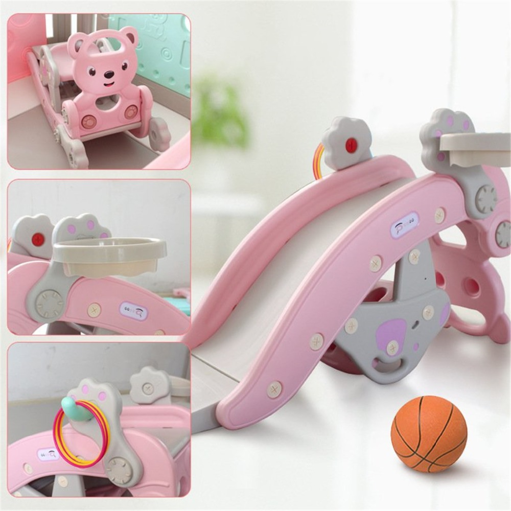 H23f00a9c25034dfbacd30a89ca9e9364N IMBABY 3 in 1 Baby Rocking Horse Slide Basketball Box Children's Kids Toys Indoor Outdoor Kindergarten Safety Game Exercise Toys