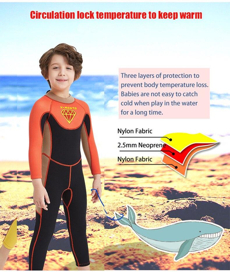 caça submarina mergulho terno crianças surf terno