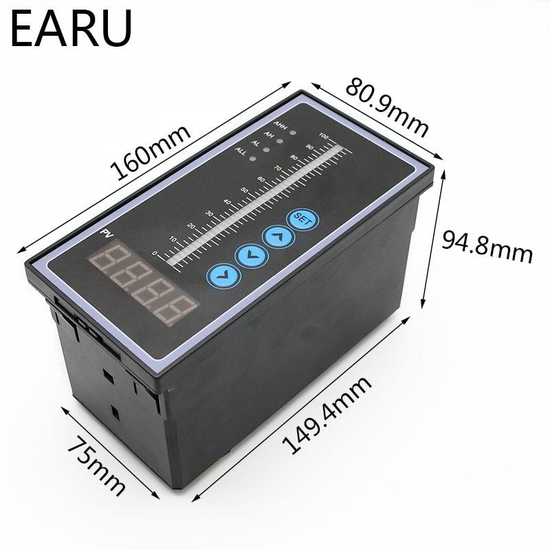 1 ensemble 4-20MA sortie huile liquide intégrale capteur de niveau d'eau transmetteur détecter contrôleur flotteur interrupteur étanche montage boîte pompe - 3
