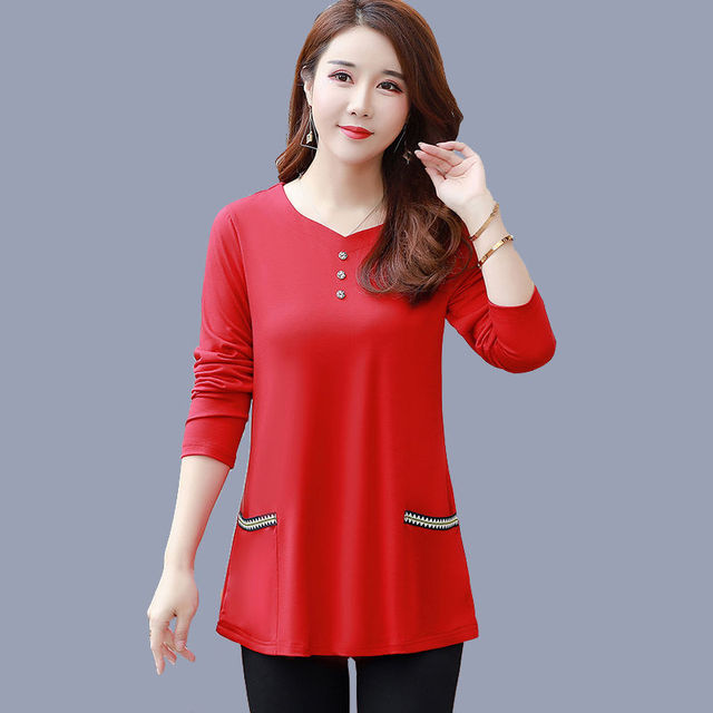 New Women's Spring Autumn Style Blouse Shirts Women's O-Neck Loose Button Embroidery Long Sleeve Temperament Casual Tops DD8332 1