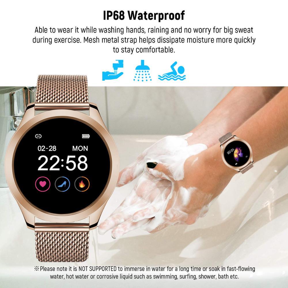 Купить с кэшбэком Vwar Women Smart Watch IP68 Waterproof Wristwatch Heart Rate Bluetooth Watch Women Bracelet Lady Watch VS KW10 KW20 Smartwatch