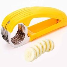 Banana Slicer Eco-friendly Multifunctional Stainless Steel Fruit Vegetable Sausage Slicer Kitchen Accessories Gadgets