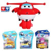 26 estilo superalas Mini avión robot de ABS juguetes figura de acción Super ala transformador Jet animación niños regalo