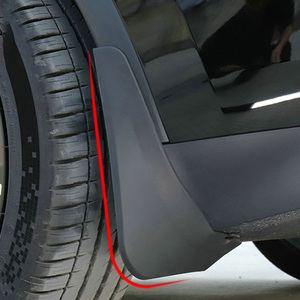 Image 5 - Guardabarros de coche de fibra de carbono, accesorio de repuesto sin Error para Tesla modelo Y 2021, 4 Uds.