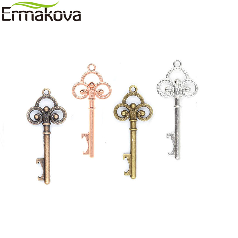 Image 5 - ERMAKOVA 50 Pcs/Lot Key Bottle Opener Skeleton Wine Opener Blank Card for Guests Rustic Wedding Party Favors Souvenir GiftsOpeners   -