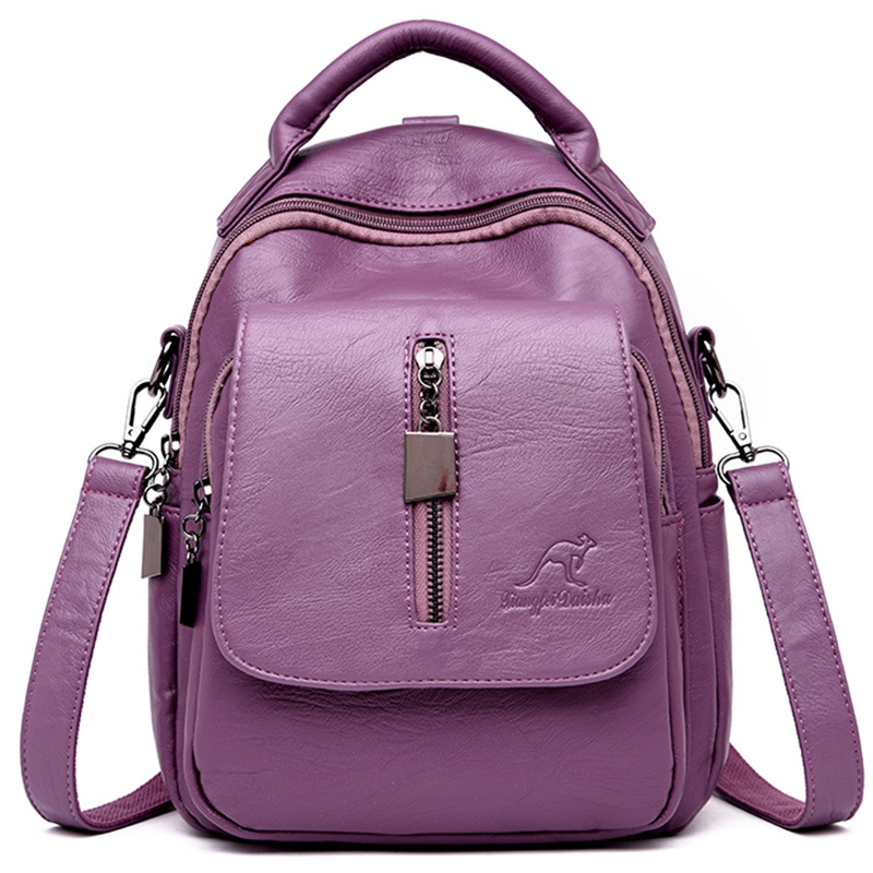 New Genuine Leather Women Backpack Casual School Bags For Teenage Girls Small Travel Backpack Ladies Bagpack Mochila Sac A Dos