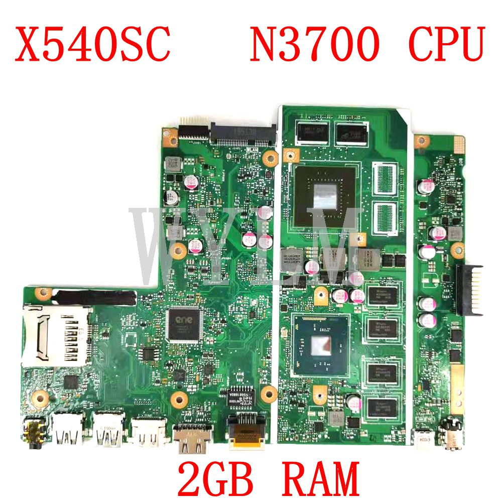 X540SC MB._2G/N3700CPU /AS <font><b>Motherboard</b></font> REV:2.0 For <font><b>ASUS</b></font> <font><b>X540</b></font> X540S X540SC Laptop Mainboard N15V-GL1-KA-A2 2GB RAM 100% Tested image