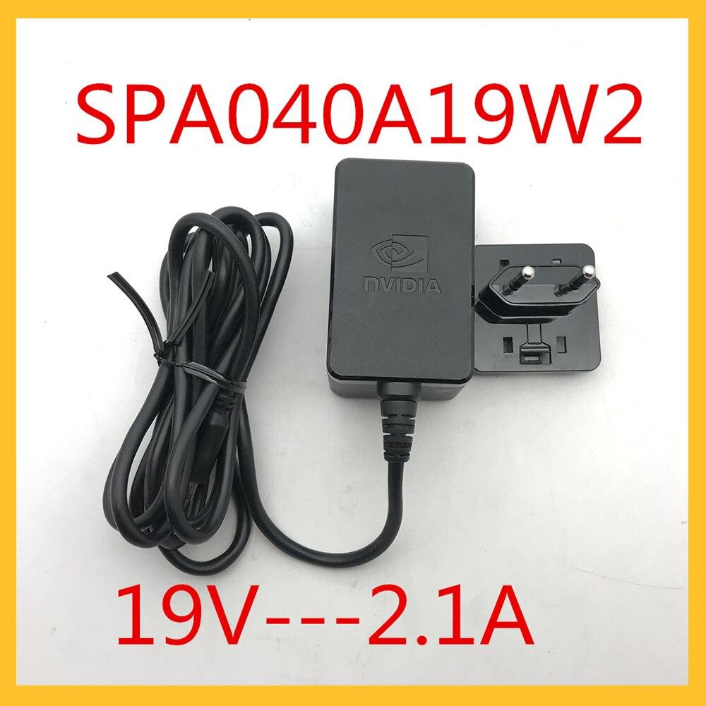 EU Stecker SPA040A19W2 Adapter Für Nvidia Schild TV Pro Media Server AC Adapter Netzteil Original Adapter 19V 2,1 EIN