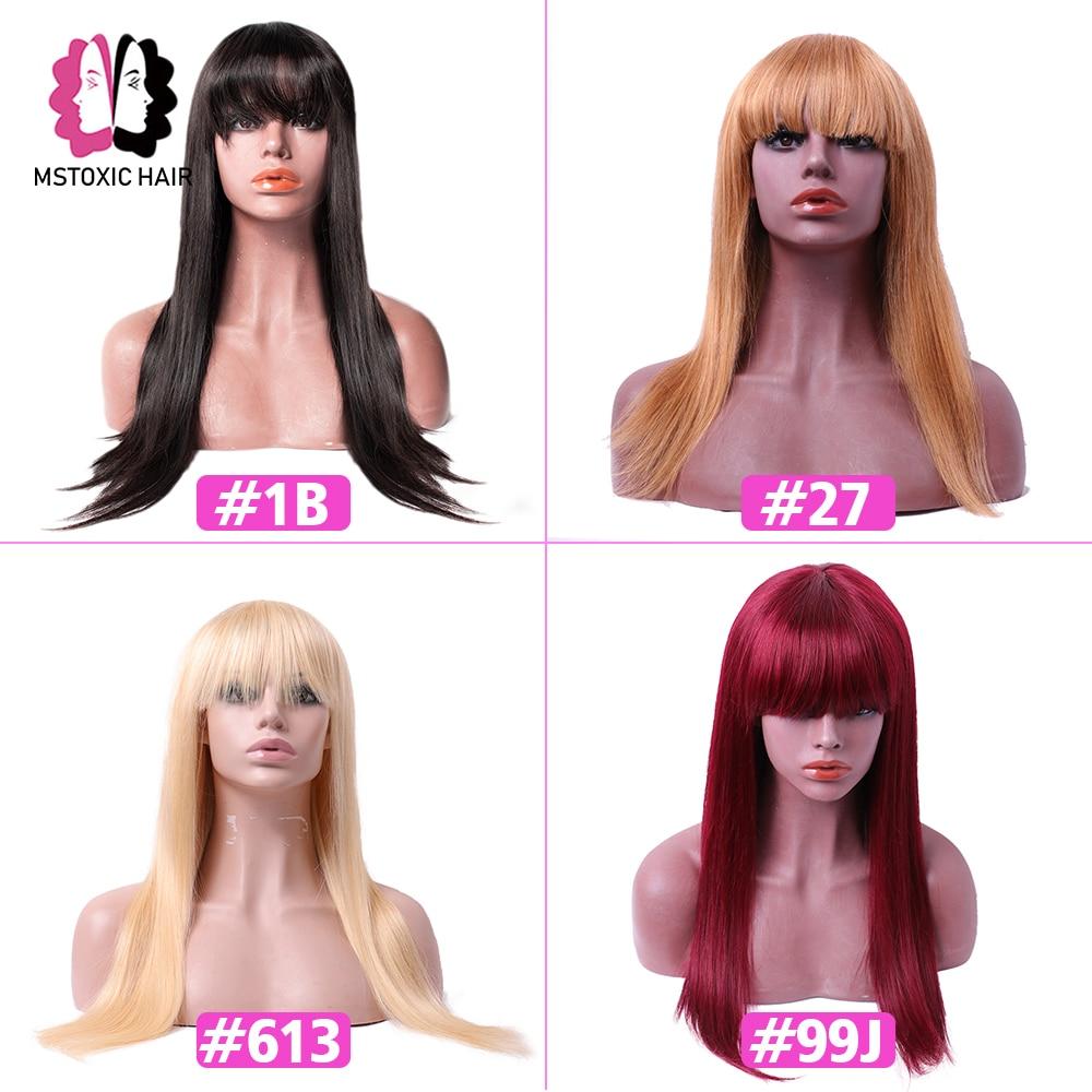 bangs with human hair wig