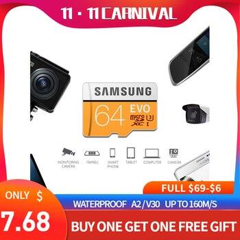 Samsung evo micro sd card 32gb 64gb 128gb class 10 u3 SDHC SDXC tf card Waterproof compact flash free shipping 100% Original