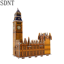 Big Ben Building 3D Puzzle Toys for Children World Attractions Educational DIY Handmade Assembling Puzzles Toy Gift Decoration