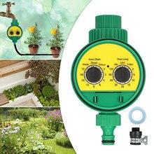 Temporizador de água para controle de irrigação, temporizador de válvula de esfera automático para sistema de irrigação, temporizador de água à prova d' água para uso externo