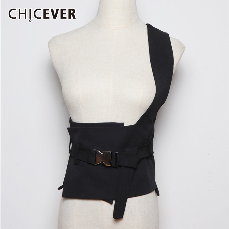 CHICEVER Korean Woman's Belt Tunic Lace Up One Shoulder Female Belts Adjustable Summer Spring Fashion Clothing Accessories 2020