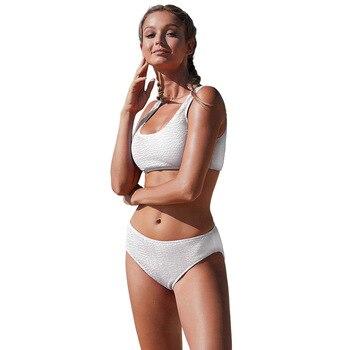 Bikini 2020 Special Fabrics Swimsuit Women Sexy Bikini Low Waist Rose Red/White/Blue High Quality Stretchy 2 Piece Suit Swimwear 2