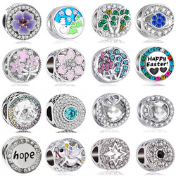 2020 Big Bell Tree Smile Bee Flowers Stars Beads Charms Fit Pandora Charms Bracelets & Bangles for Women DIY Silver Color Gifts