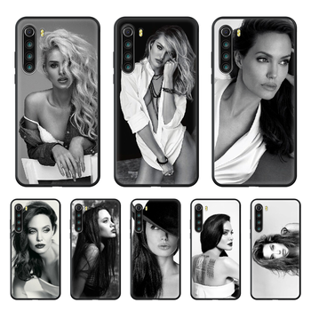Celebrity Angelina Jolie beauty Phone case For Xiaomi Redmi Note 8T 8 9 7 7A 8 8A 4 5 9S Pro black cell cover silicone prime image
