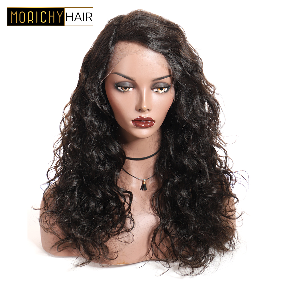 Morichy Lace Front Curly Human Hair Wig With 13x2 Lace  Brazilian Non-Remy Wigs Natural Black Color 150% Density