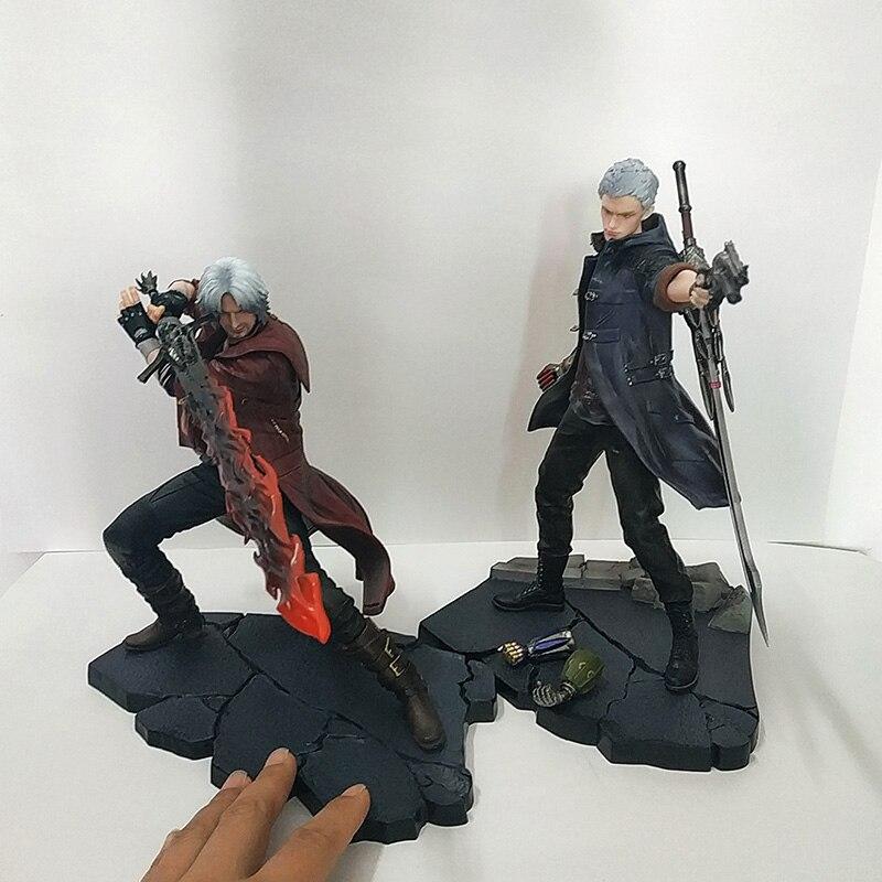 28cm ARTFX J Devil May-Cry NERO DANTE Statue PVC Action Figure Model Toys Doll For Gift