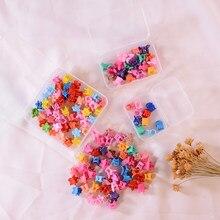 Mini Haarnadeln Haar Zubehör für Mädchen Kinder Headwear Geschenke Candy Farbe Blume Haar Krallen INS Mode Cartoon Clips 50/20/10 stücke