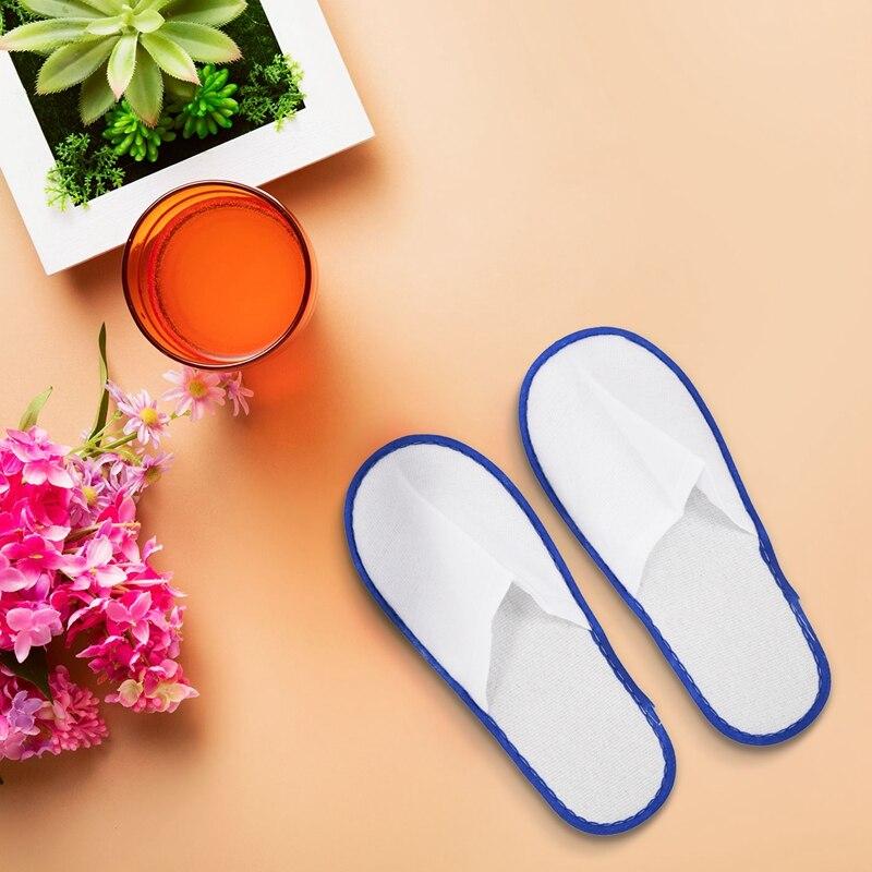 descartáveis terry spa sapatos de hóspedes azul
