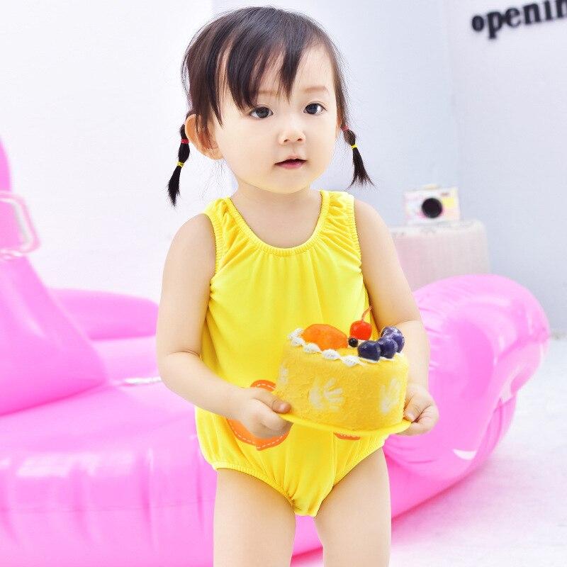 KID'S Swimwear New Style Girls One-piece Swimming Trunks Set Infant Baby Cartoon Cute Korean-style Baby Swimsuit