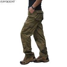 FAVOCENT брендовые летние свободные мужские комбинезоны с несколькими карманами 30-44 Новые мужские повседневные брюки