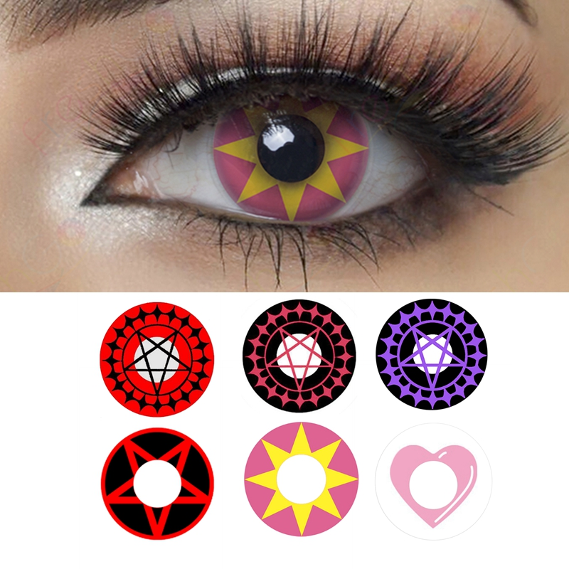 Contract Eye Halloween Contacts Pentagram Cosplay Colored Contact Lenses