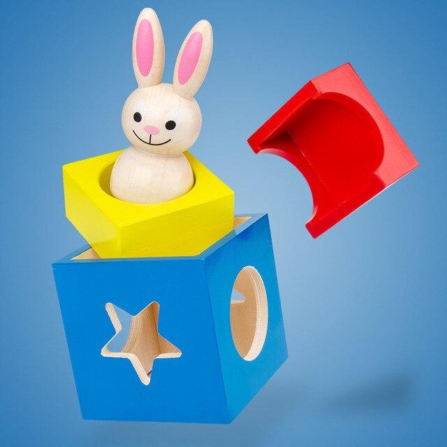 60 вызов кролик Волшебная коробка деревянная головоломка Интерактивная
