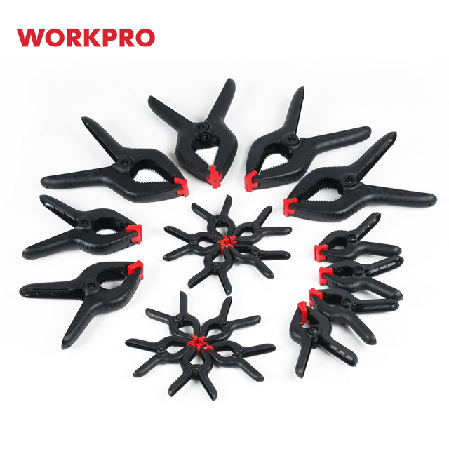 WORKPRO Heavy Duty Spring Clamps Plastic Clamp Set for WoodWorking DIY Tools 20PCS/lot 1