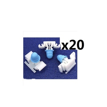 20x For BMW E36 Exterior Side Moulding / Door Bumpstrip Fastener Clips - inc M-Tech image