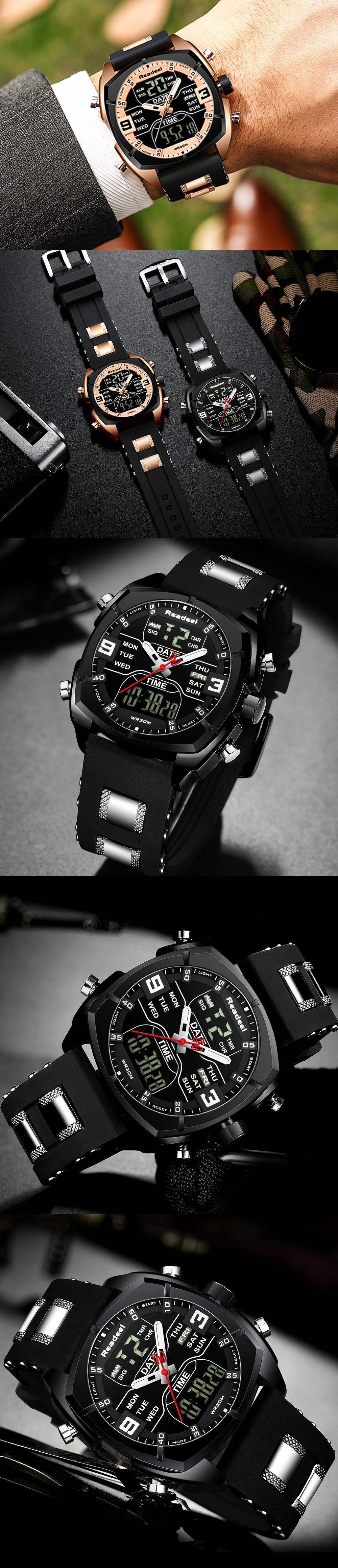 H23f2add6c4f94a8ba8859b24f763fe3aO Mens Watches Luxury Brand Men Sports Watches Men's Quartz LED Digital Clock Male Rubber Military Wrist Watch Relogios Masculinos