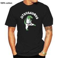 Jiu Jitsu siyah kemer T Rex, komik brezilyalı Jujitsu T Shirt şaşırtıcı kısa kollu benzersiz Casual Tees 100% pamuklu giysiler T Shirt