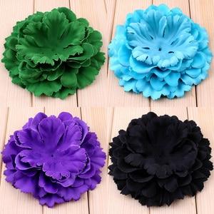 200 шт./лот, 11 см, 20 видов цветов, для новорожденных, сделай сам, модный, шикарный потрепанный, искусственная форменная ткань, цветы для волос, д...