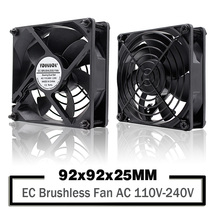 YOUNUON Dual Ball  92mm 9225 EC Brushless Fan AC 110V 115V 120V 220V 240V Axial Fan 92mm x 92mm x 25mm Comes with Srews/Grill