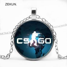 LIAOZEKUN.2019 / CS GO Glass Pendant Chain Necklace CSGO Men and Women with The